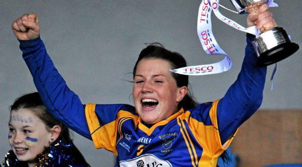Hannah Noonan, Parnells, lifts the cup in 2012