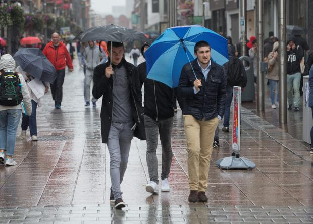 The wet weather is back Picture by Fergal Phillips