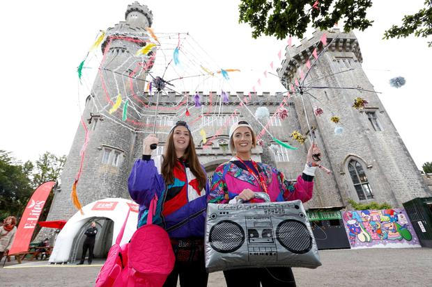 Carla McMahon and Laura O'Curry at the Castlepalooza music festival being held this weekend in Tullamore, Co Offaly