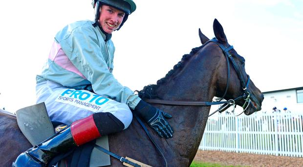 Jack Kennedy with Clondaw Warrior after last night's success in the feature at Galway