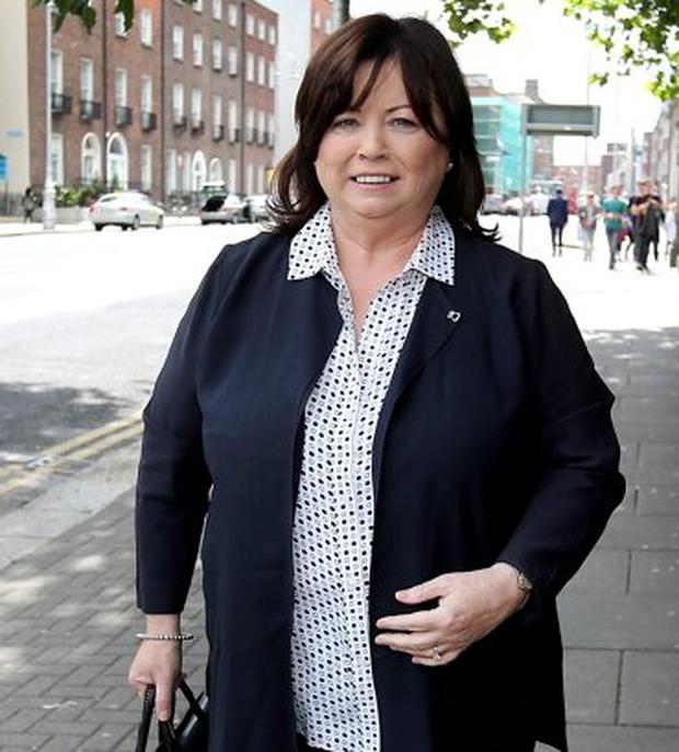 Former Tánaiste and PD leader Mary Harney arrives to testify before the Banking Inquiry. Photo: Steve Humphreys