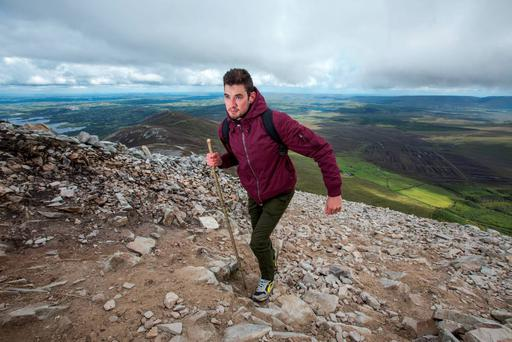 Wayne O'Connor climbs Croagh Patrick