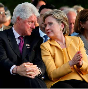 Bill and Hillary Clinton. Photo: Reuters