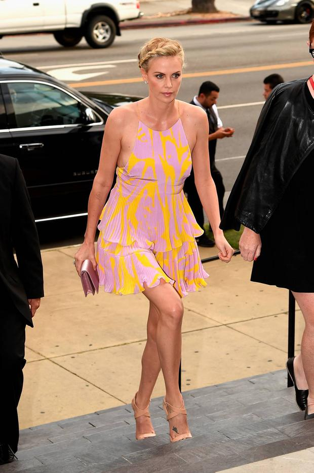 Actress Charlize Theron attends the premiere of DIRECTV's