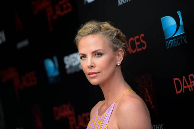 Actress Charlize Theron attends the premiere of