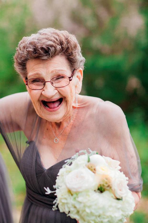 Nana Betty at her granddaughter's wedding. Picture: Sweetwater Portraits