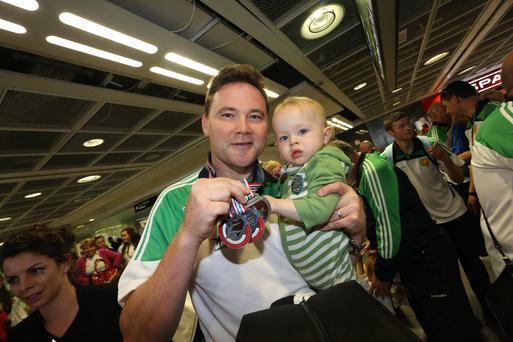 James Nolan and his son Andrew James pictured at an earlier event (Photo: Irish Kidney Association)