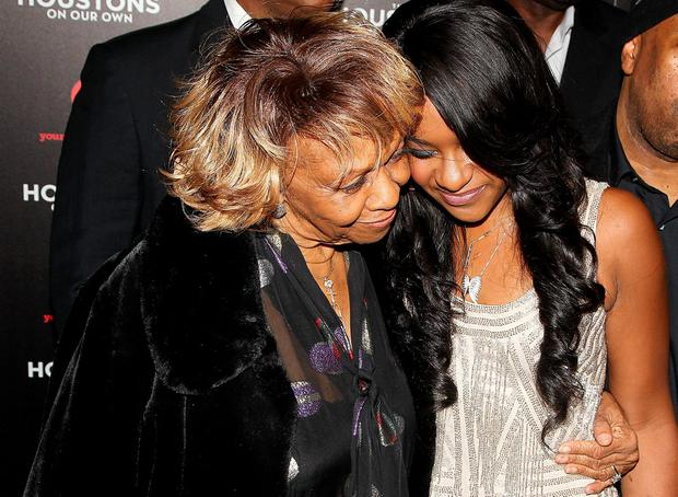 Singer Cissy Houston and her granddaughter Bobbi Kristina Brown attend the premiere party for