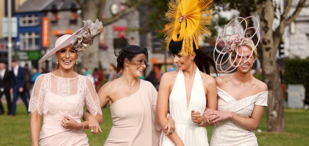 GLAMOUR AND GLITZ IN GALWAY: Mary Lee, Mandy Maher, Tirna Slevin and Eileen Lundon. Photo: Gerry Mooney