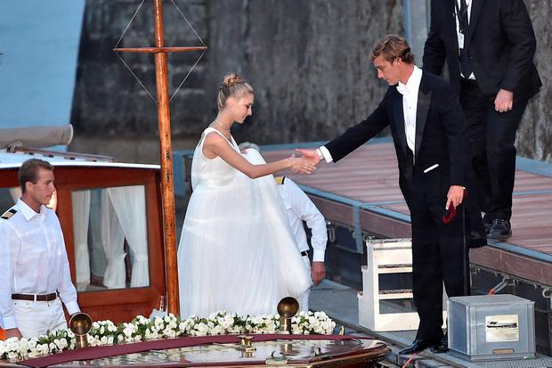 Pierre Casiraghi and Beatrice Borromeo are seen on August 1, 2015 in ANGERA, Italy. (Photo by JacopoR/PierreS/GC Images)