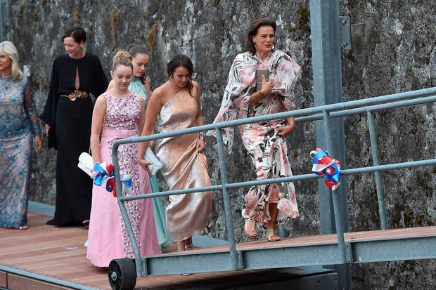 Princess Alexandra of Hanover, Pauline Ducruet, Princess Caroline of Hanover and Princess Stephanie of Monaco are seen on August 1, 2015 in ANGERA, Italy. (Photo by JacopoR/PierreS/GC Images)