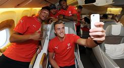 Say cheese: Roy Keane has attacked the Arsenal team for concentrating too much on taking selfies Photo: GETTY IMAGES