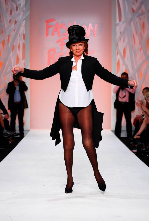 Singer Cilla Black takes part in Fashion For Relief at the Natural History Museum September 17, 2008 in London, England. (Photo by Mike Marsland/WireImage)