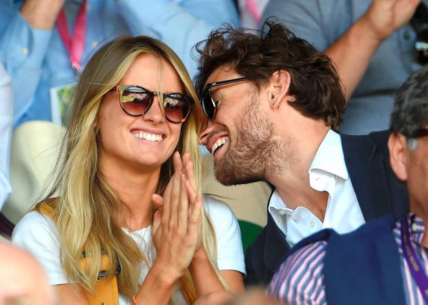 Cressida Bonas and Edward Holcroft attend day eleven of the Wimbledon Tennis Championships at Wimbledon on July 10, 2015 in London, England. (Photo by Karwai Tang/WireImage)