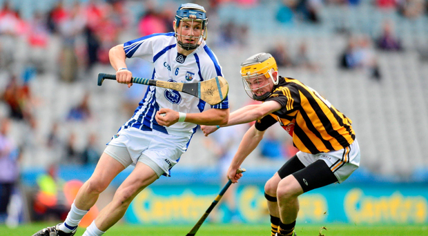 Waterford's Austin Gleeson takes on John Walsh of Kilkenny during their All-Ireland MHC semi-final victory in Croke Park in 2013
