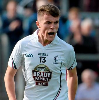 Kildare's Ciaran Kelly celebrates after scoring a goal against Cavan