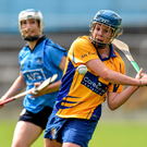 Aoife Keane, Clare, in action against Catriona Power, Dublin