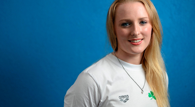 Ireland's Fiona Doyle in attendance at a Pre-World Championships Swimming briefing. National Aquatic Centre, Dublin