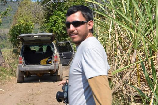 Photojournalist Ruben Espinosa is seen in Jalapa, in the Mexican state of Veracruz, in this January 20, 2014 file photo. REUTERS/Stringer