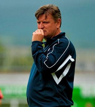 Limerick Manager Martin Russell relieved after his team won their first league match of the season