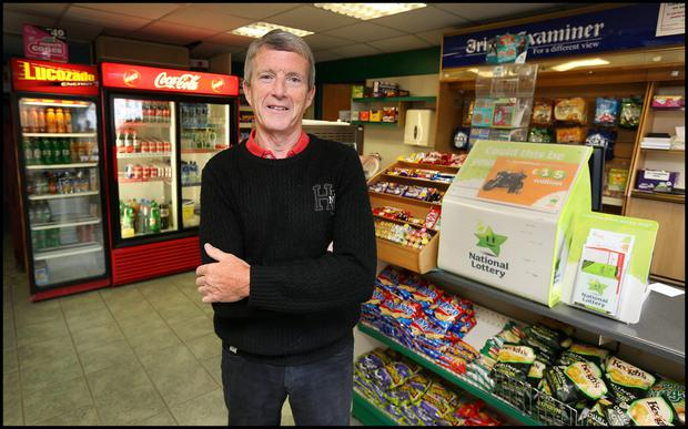 Pat Bergin, who runs Bergin's Post Office and Newsagent - the family-run shop also closed its doors recently.