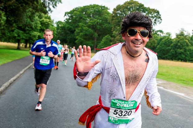 'Elvis' was spotted taking part in yesterday's Rock 'N' Roll run