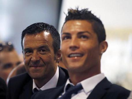Football agent Jorge Mendes and Real Madrid star Cristiano Ronaldo