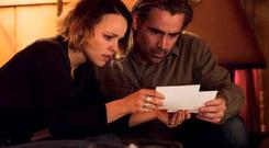 Rachel McAdams and Colin Farrell try to get their heads around the script