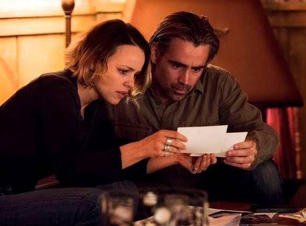 Rachel McAdams and Colin Farrell in True Detective season 2