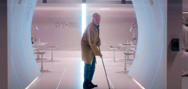 Louis Walsh has been cast as a studio cleaner in new X Factor ad