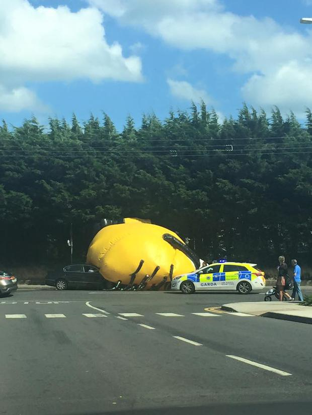 Minion up to mischief in Santry, Dublin(Photo: Facebook/ErinVanLonden)