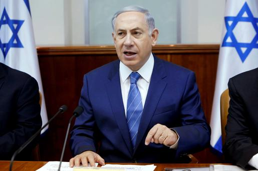 "Israeli prime minister Benjamin Netanyahu has vowed to crack down on what he called terrorism by ""criminals in our nation"""