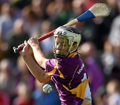 Player of the match, Wexford's Kate Kelly
