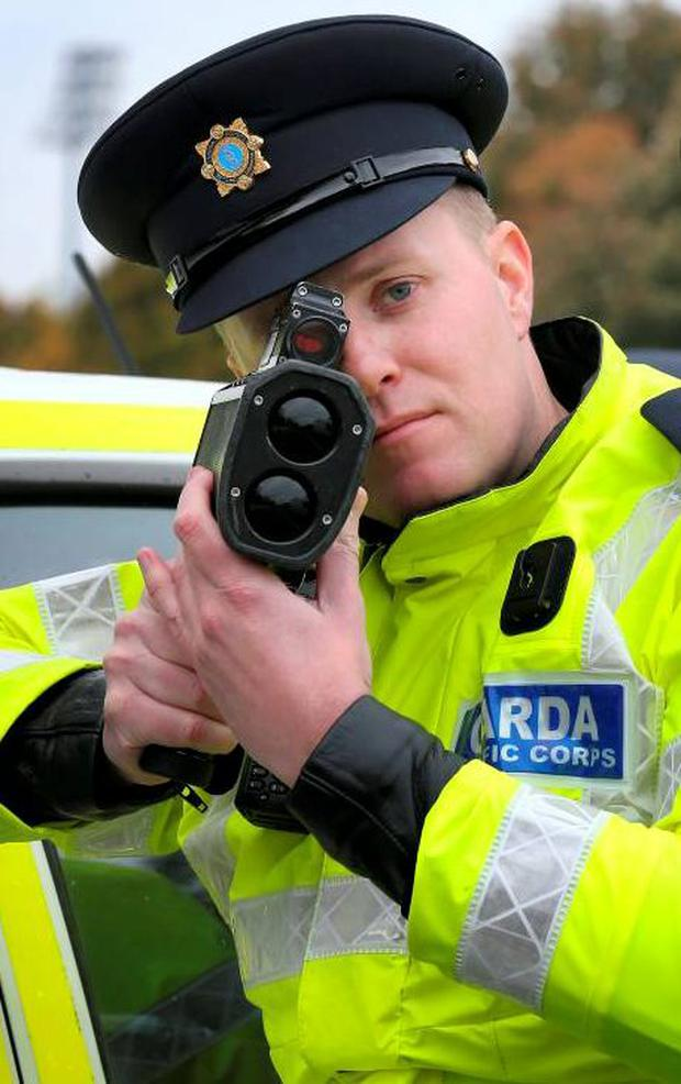 Gardaí are encouraging motorists to slow down