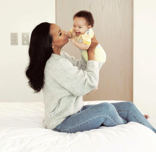 Samantha Mumba and baby Sage in VIP magazine shoot
