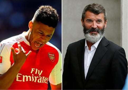 Alex Oxlade-Chamberlain has hit back at Roy Keane