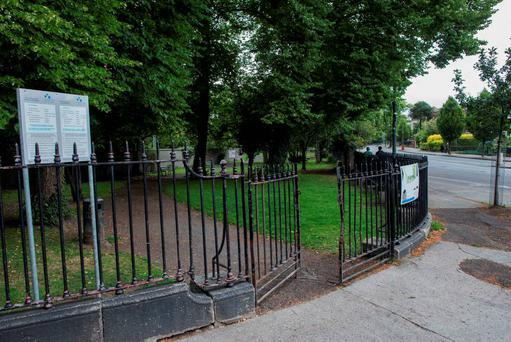 Sunday 02 August 2015. Mount Pleasant Park, Ranelagh. Scene of alleged sex attack.