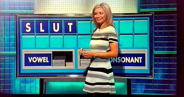 Rachel Riley spells out SLUT on Countdown
