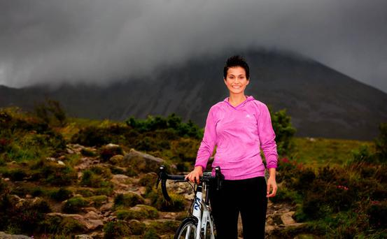 Rose of Tralee Maria Walsh will end her reign with a charity run and cycle. Photo: Richard Mc Carthy 2015