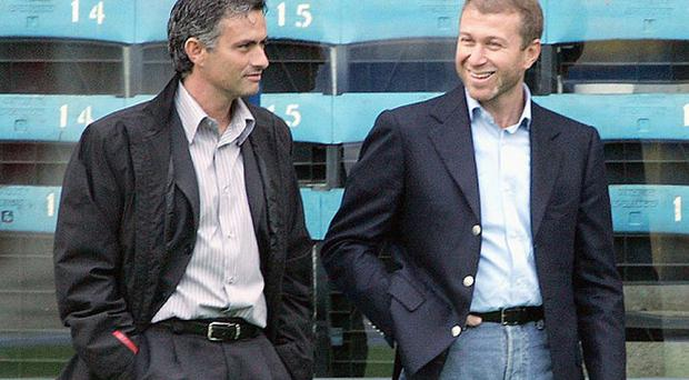 Best buds: Jose Mourinho (left) and Roman Abramovich (right) have patched things up Photo: GETTY IMAGES