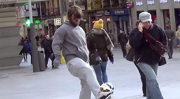 Cristiano Ronaldo dresses up as a homeless man in Madrid