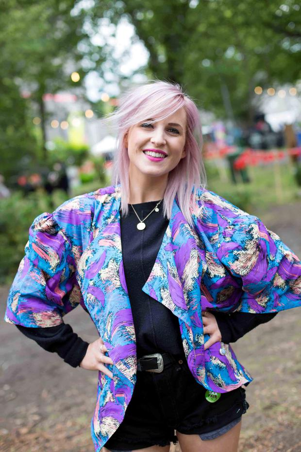 Bairbre Anne Munnis Dundrum at the Castlepalooza Vodafone Centre Stage recharge the 90's dress up day were. Photo by Richie Stokes