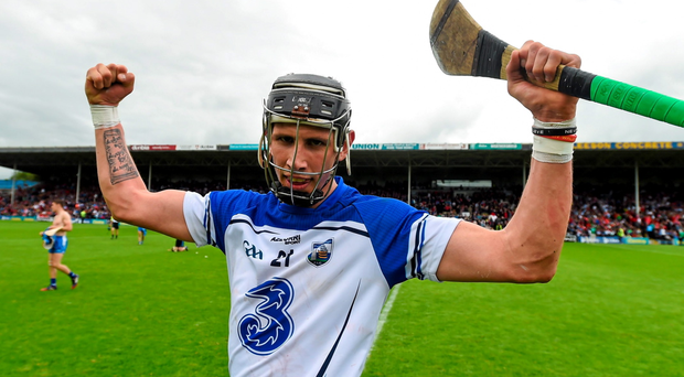 Maurice Shanahan celebrates Waterford's win over Dublin – facing Kilkenny on Sunday will be a different ball game
