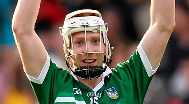 Limerick's Cian Lynch celebrates his side's victory over Cork in a thrilling Munster U21 final