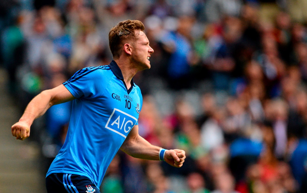 Dublin's Paul Flynn celebrates scoring his second half goal against Fermanagh last Sunday.