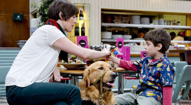 Nicola Ryan with her son Tommy Quintero and his dog Otto
