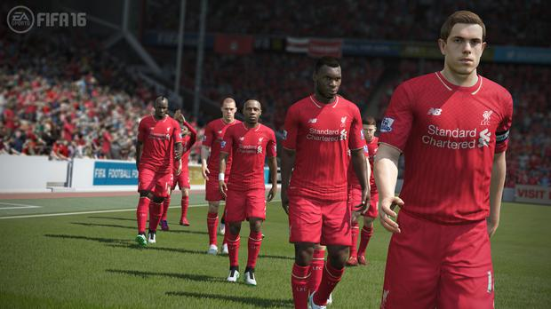 FIFA 16 - Liverpool take the pitch