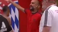 Pep Guardiola was involved in a furious tunnel row with Nigel de Jong