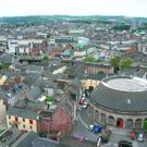 The view from St. Anne's Church in Cork City