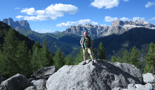 Tom on a mountaintop in Italy